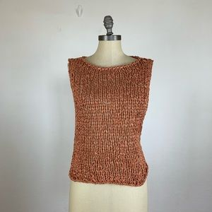 Zara Burnt Orange Knit Tank Top